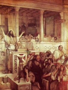 Christ Preaching at Capernaum. Wrath of Jesus