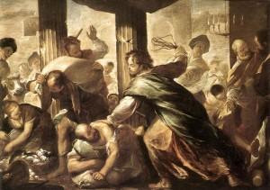 Christ Cleansing the Temple / Luca Giordano, mid 1670s