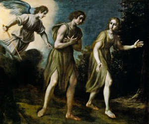 Expulsion of Adam and Eve from Paradise / by Francesco Curradi