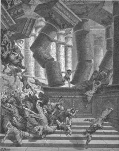 Samson destroying the temple