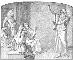 Ezekiel and the elders. rebellious church