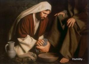 Jesus washing feet. God gives gifts