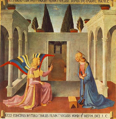 Annunciation / Fra Angelico. virgin birth of Jesus