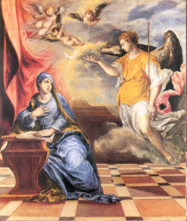 The annunciation / El Greco. virgin birth of Jesus