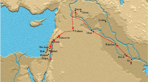 Map of Abram's journey