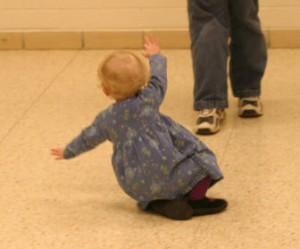 Toddler falling
