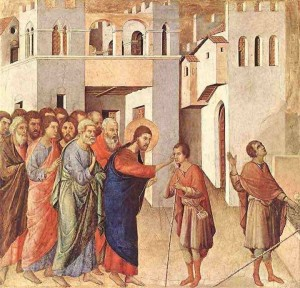 Christ heals the Man born blind
