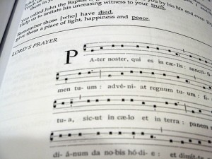 Lord's Prayer, chant notation