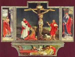 crucifixion, grunewald, kingdom of God