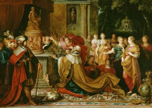 Idolatry of Solomon / by Frans Francken II (1622)