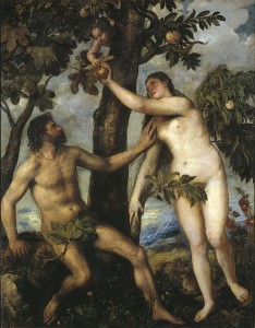 Temptation of Adam and Eve / by Titian