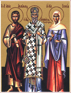 Athanasius, with apostles Andronicus and Junia