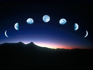 reflected glory, phases of the moon