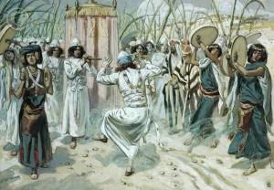 David dancing before the ark