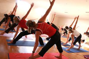 Yoga at a gym