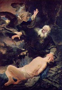 Sacrifice of Isaac / Rembrandt (1635)