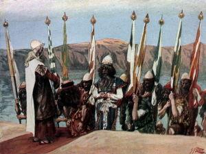 Moses blesses Joshua
