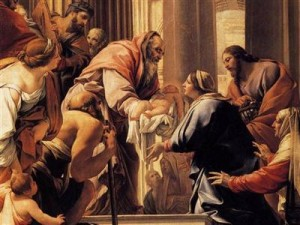 Simeon receives Jesus in the temple / Vouet