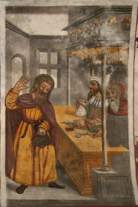 judas receives silver