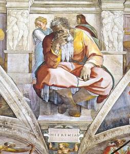Jeremiah, Sistine Chapel ceiling / Michelangelo