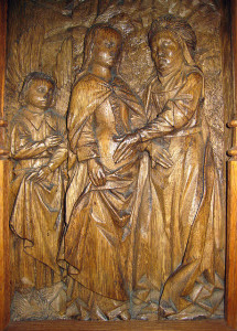 Visitation of Mary and Elizabeth carving