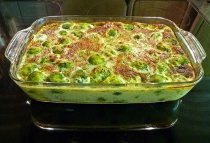 old testament heavenly vegetables Brussels sprout casserole