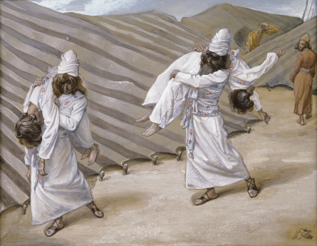 Dead bodies carried away. Holiness of God