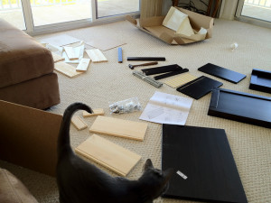 Unassembled furniture