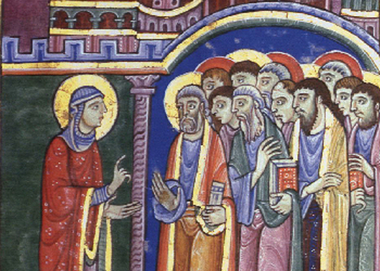 Mary Magdalene announcing resurrection -- doubt and unbelief