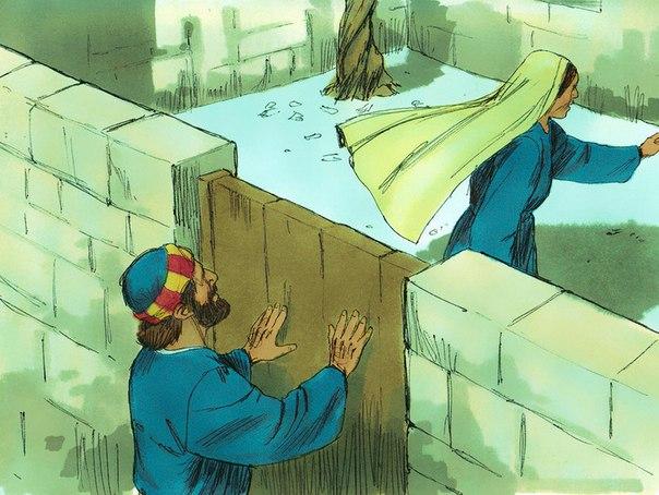 Rhoda leaves Peter outside the door -- sin of unbelief