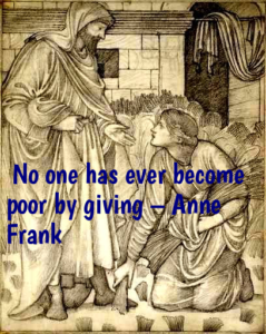 Ruth meets Boaz. No one ever became poor by giving. Giving and receiving