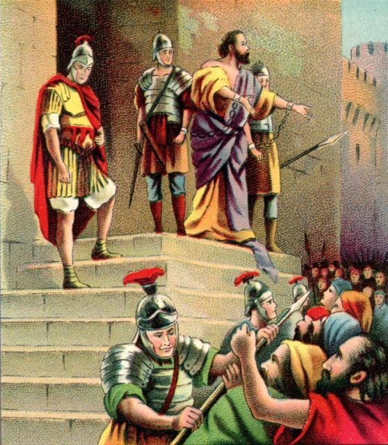 Paul addresses the Jews, Acts 21. Claudius Lysias