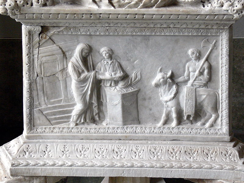 Roman idol sacrifice
