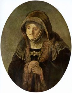 Anna the prophetess / Rembrandt. Simeon and Anna see Jesus